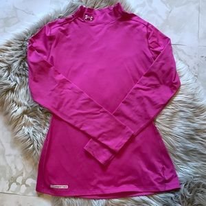 Under Armour Pink Fitted Coldgear long sleeve